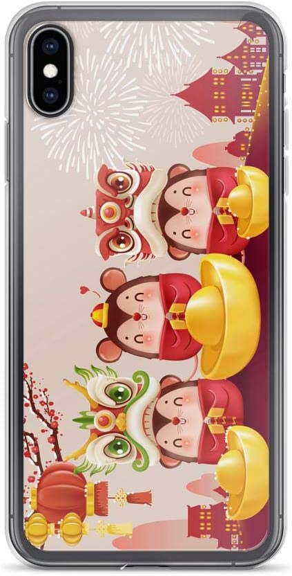 Compatible for iPhone 7//8 Cases 2020 Happy New Year of The Rat Fireworks Mouse Ingot Anti Bumps Scratches