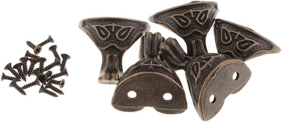 5 Piezas/Paquete Color Bronce Antiguas Criaturas Míticas con Forma de Patas/Pies de Muebles
