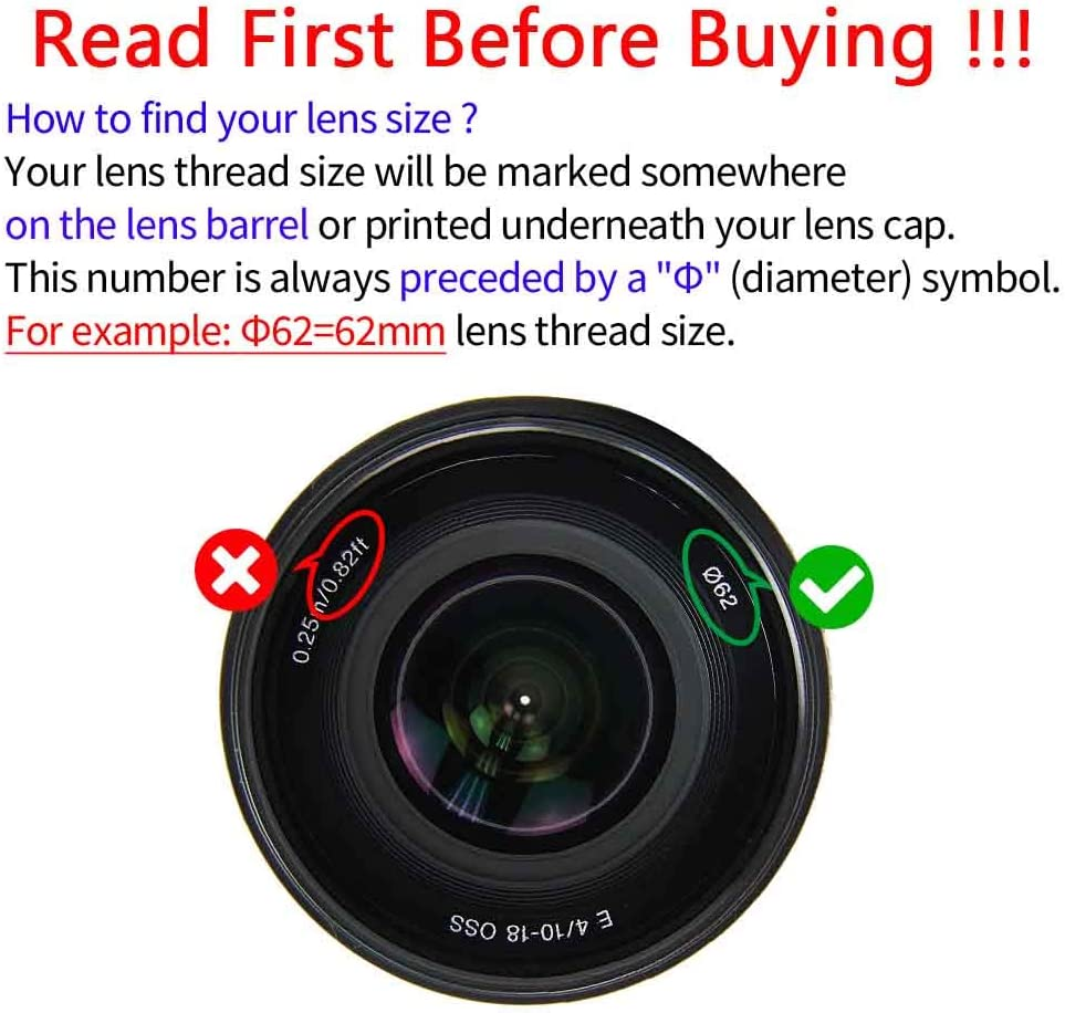 ULBTER 55mm Lens Cap Cover with Keeper for Sony E-Mount 16-70mm F4 ZA,Sony 18-135mm F3.5-5.6 OSS Lens for Sony Alpha a6600 a6500 a6400 a6300 a6100 a6000 a5100 a5000-2 Pack