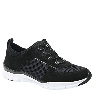 Ros Hommerson Women's Flynn Bungee Lace Sneaker,Black Leather/Mesh,US ...