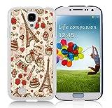 France Paris Love City Eiffel Tower Floral Pattern White Samsung Galaxy S4 I9500 Shell Phone Case,Popular Design