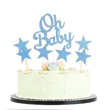 Amazoncom Lxzs Bh Baby Boy Baby Girl Happy Birthday Cake Topper