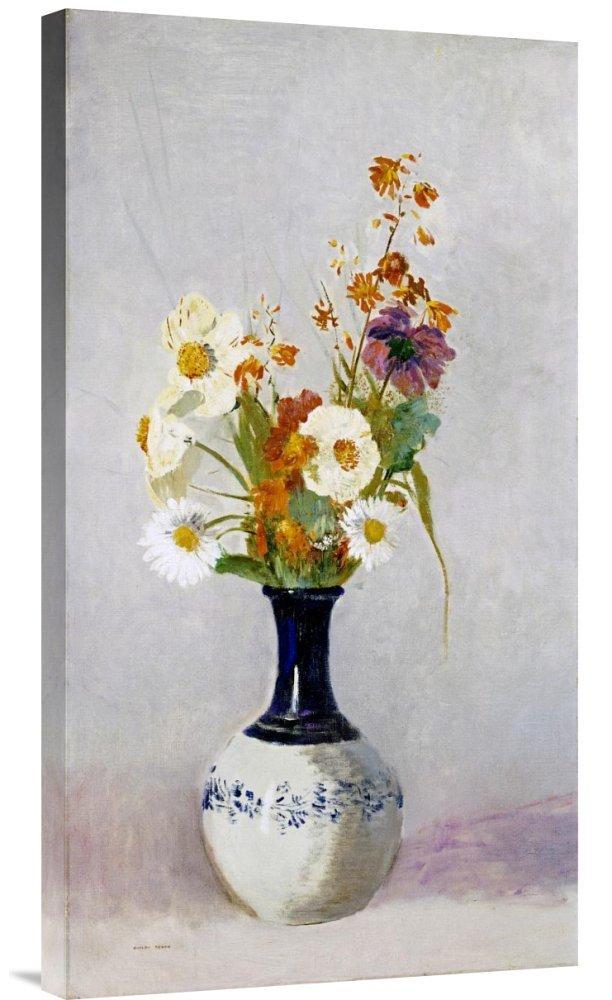 Global Galerie Budget gcs-265387–76,2–360,7 cm Lon roton Blaumen in einer einer einer Vase Galerie Wrap Giclée-Kunstdruck auf Leinwand Art Wand B01K1PW89Y Keilrahmen Elegante Form 8b476d