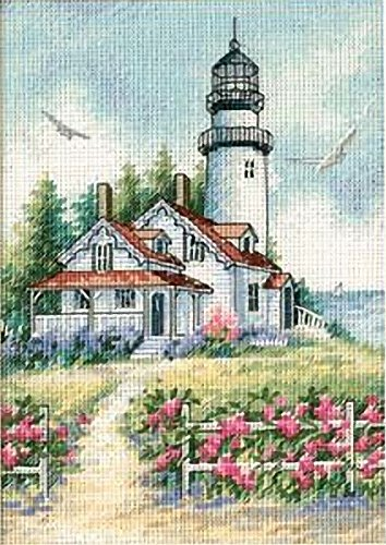 Cross Stitch Lighthouses - Dimensions Needlecrafts Counted Cross Stitch, Scenic Lighthouse