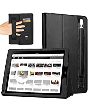 iPad Pro 9.7 Case, iPad 9.7 Case, iPad Air Case, COCASES Leather Flip Cover Stand Smart Case Auto Sleep/Wake with Pencil Holder Hand Strap Card Slot Cash Document Pocket