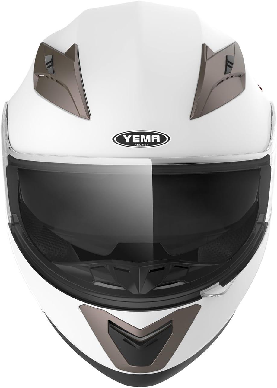YEMA Helmet Unisex-Adult Motorcycle Full Face DOT Helmet YM-829 Matte Black, M