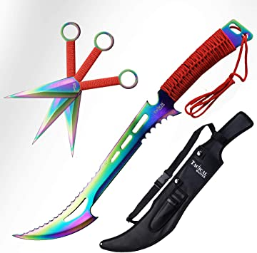 Amazon.com: Tactical Master Machete Set con cuchillos de ...
