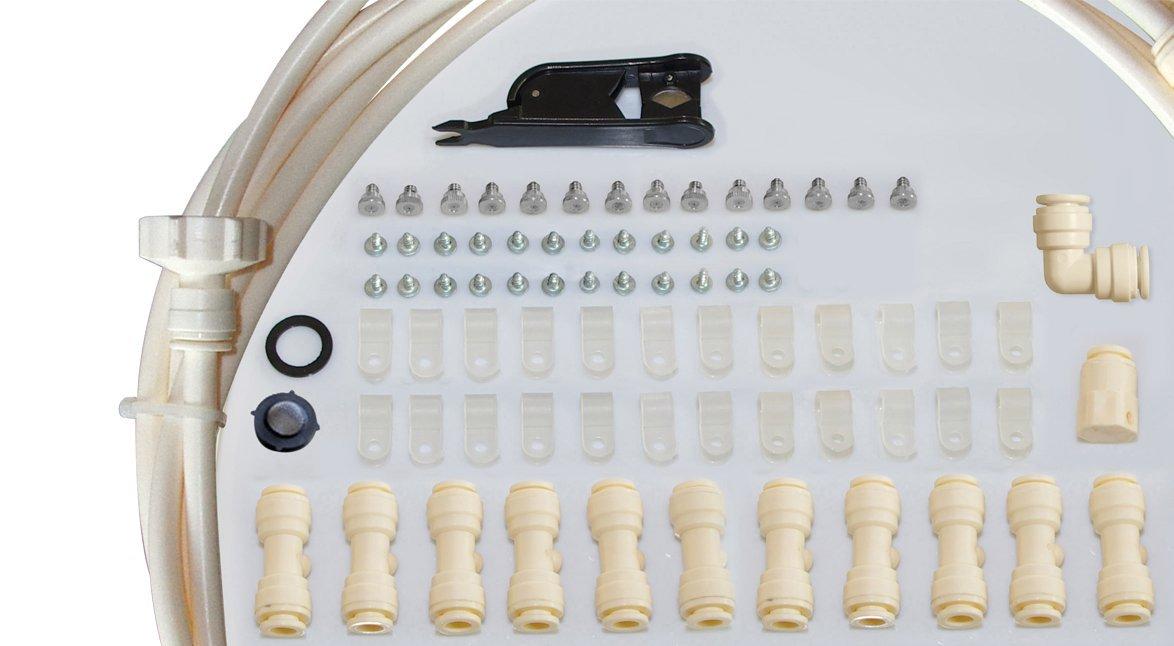 O Fresh 135/Sistema di vaporizzazione 15/m 12/ugelli in ottone//acciaio inox