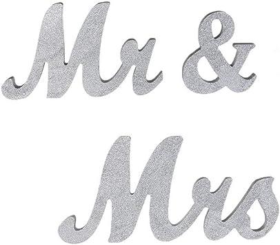 Amazon.com: Senover - Letras decorativas para mesa de boda ...
