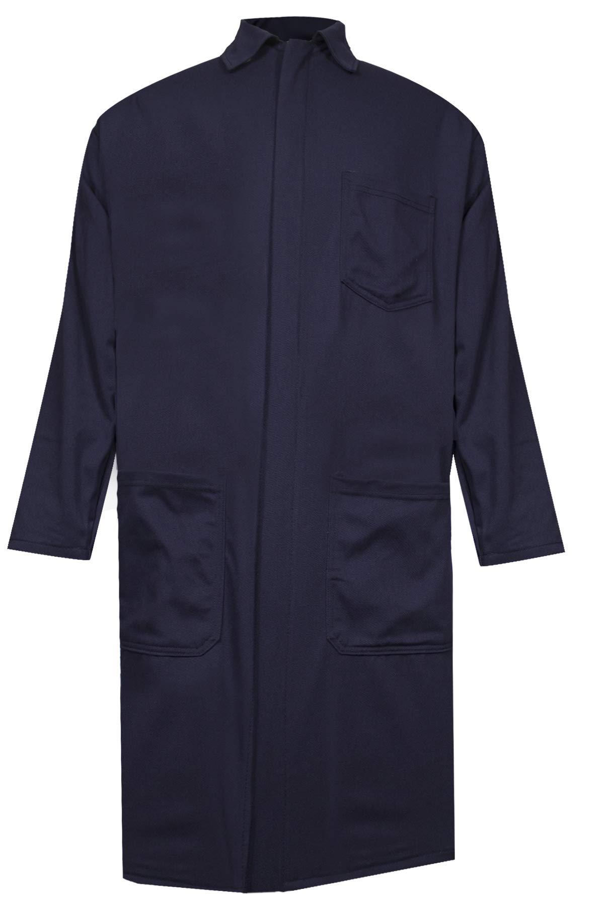 National Safety Apparel C09UPLC3X42 Ultrasoft Lab Coat, 88% Cotton, 12% Nylon FR, 3X-Large, Navy