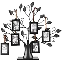 Moldura para foto, fotos modernas de metal preto para mesa exibem árvore genealógica com molduras para pendurar para…