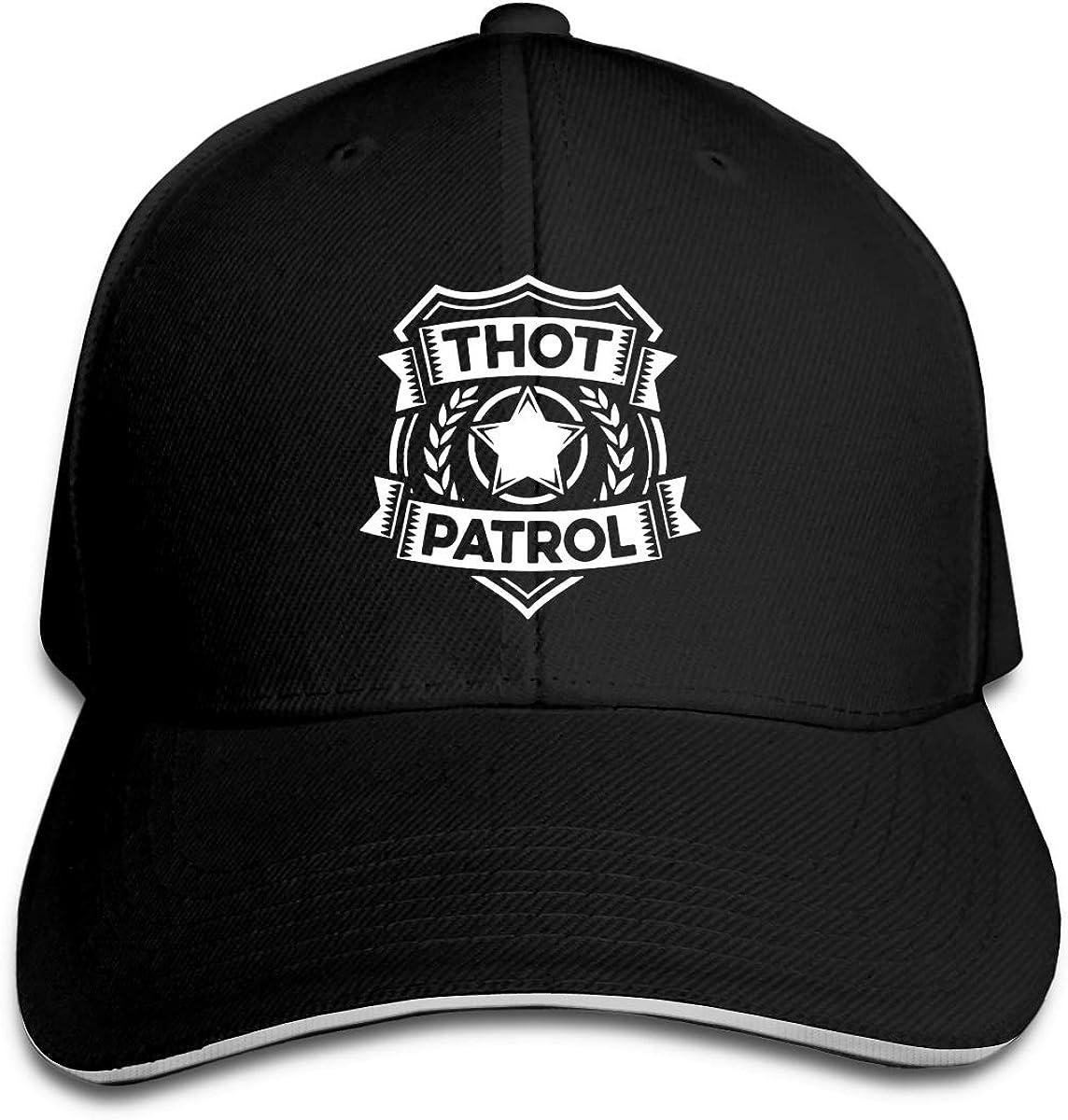 Thot Patrol Is On The Case Denim Dad Cap Baseball Hat Adjustable Sun Cap Hip Pop Hat