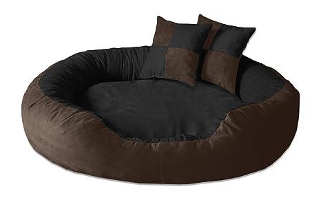 BedDog PRINS Marron/Negro XL Aprox. 95x80cm colchón para Perro, 12 Colores,