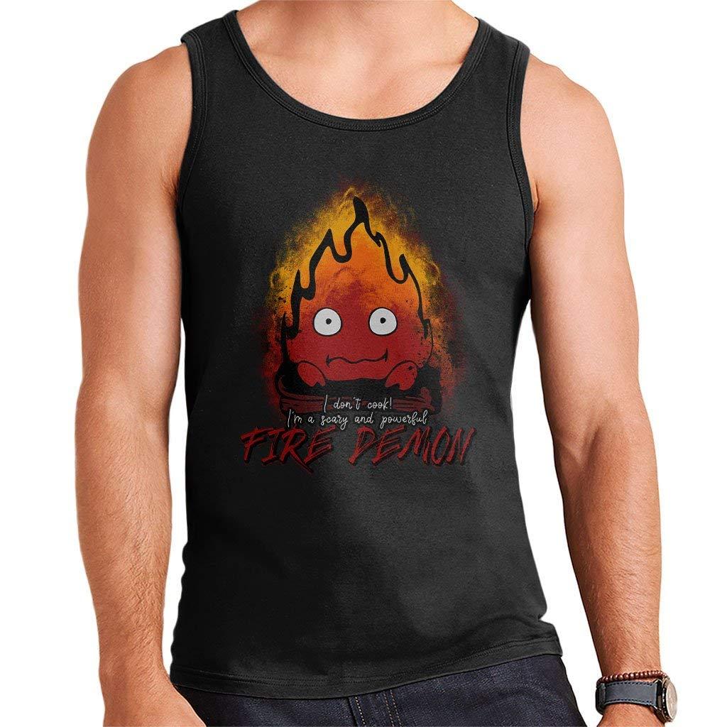 Fire Demon Calcifer Howls Moving Castle Mens Vest