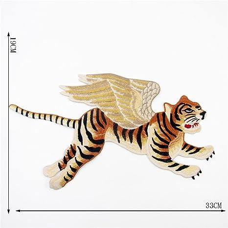 1Pieza alas tigre parche coser parches para planchar Bordado ...