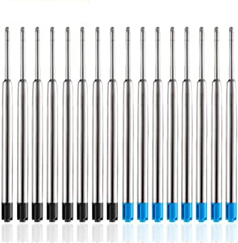 4 Großraumminen Metall blau Refill Kugelschreiber Mine passend für Parker ect.