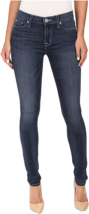 HUDSON Womens Nico Midrise Super Skinny Gray Wash 5 Pocket Jeans