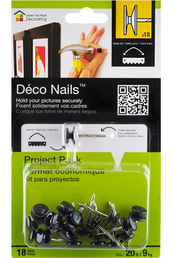 Under the Roof Decorating Deco Nail Large Head Project Pack