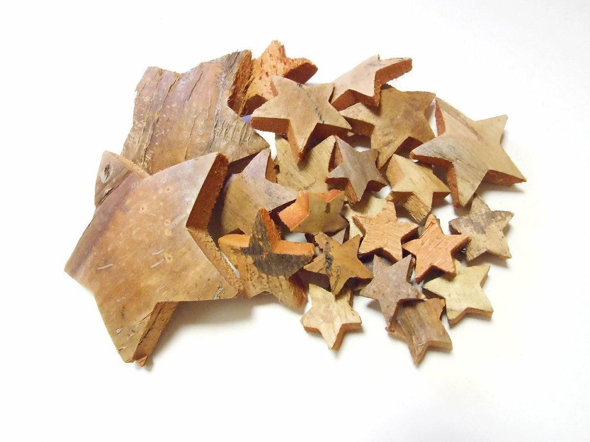 27 Kokossterne Mix Natur braun / Weihnachten Potpourri Deko Sterne Advent Gesteck Kranz Weihnachtsgeschenke