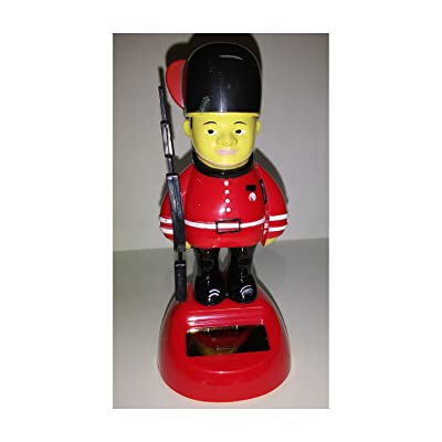 Plastic Solar-Powered Swinging England Soldier Style May Vary: Toys & Games
