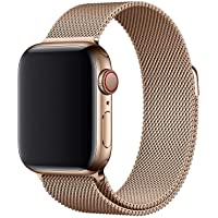 OMNII FAST PULSEIRA MILANESE AÇO PARA APPLE WATCH - 42/44mm - OURO CHAMPAGNE