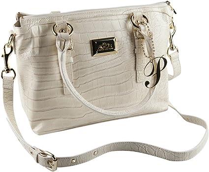 Paris Hilton Handtaschen – Kroko Creme Handtasche 12 x 9