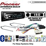 Volunteer Audio Pioneer DEH-S6010BS Double Din Radio Install Kit with Bluetooth, Sirius XM, CD Player Fits 2004-2006 Ford Expedition