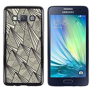 """Pulsar Snap-on Series Teléfono Carcasa Funda Case Caso para Samsung Galaxy A3 , Arte retro rústico Pirámide tinta de la pluma"""""""