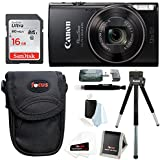 Canon PowerShot ELPH 360 HS Digital Camera w/16GB SD Card & Accessory Bundle