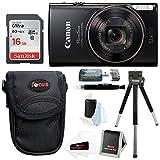 Canon PowerShot ELPH 360 HS Digital Camera (Purple) w/ Sony 16GB SD Card & Focus Accessory Bundle
