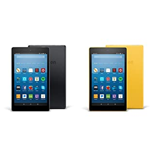 Fire HD 8 2-pack, 16GB - Includes Special Offers (Black/Yellow)
