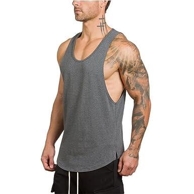 e8878ac2c YeeHoo Chalecos para Hombre Culturismo sin Mangas Camiseta Deportiva de  Tirantes Tank Top Algodón M-