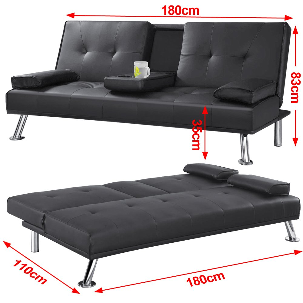futon for convertible bed fold lounge faux black home products choice leather sale futons dp best couch down com sofa kitchen amazon