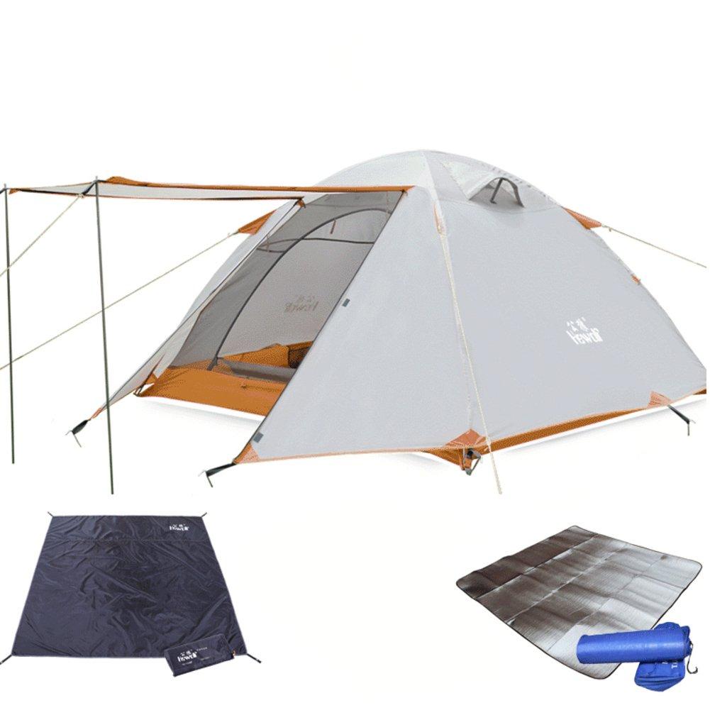 Im Freien3-4 Person Aluminium Mast Zelt camping camping-Ausrüstung Double double Regen-Proof Zelt im Feld