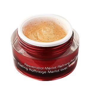 Vine Vera Resveratrol Merlot Peeling Gel, Paraben Free Luxury Face Scrub to Peel Your Way to Radiant Skin, Resveratrol Peel for Improved Skin Tone, Natural Ingredients to Suit All Skin Types