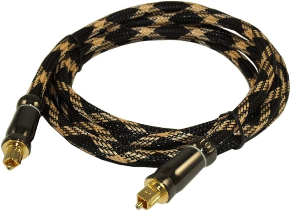 MyCableMart 8ft Elite Toslink Digital Optical Audio Cable SPDI//F Metal Connectors
