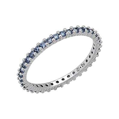 0b81b0902 Swarovski Vittore Women's Ring, Stainless Steel Rhodium Plated, Blue Crystal  Blue, Size N (EU 55) - 5206519: Amazon.co.uk: Jewellery