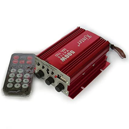 MA700 Kinter 2 Canales 12V DC Tarjeta USB SD FM Amplificador Audio Estéreo ??Altavoz