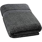 Utopia Towels Extra Large Bath Towel(35 x 70 Inches) - Luxury Bath Sheet - Dark Grey