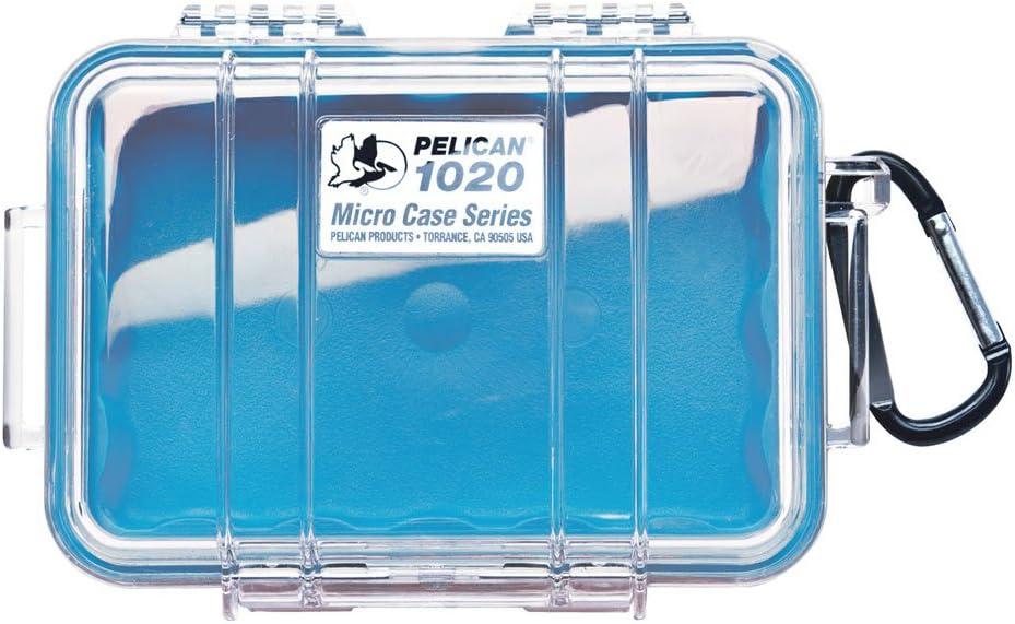 Pelican Estuche azul 1020 Micro con tapa transparente y mosquet¨®n: Amazon.es: Electrónica