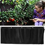 MEIWO 7 Pocket Hanging Horizontal Garden Wall Planter For Yard Garden Home Decoration