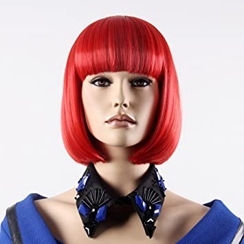 "Stfantasy Wigs for Women Short Straight Heat Friendly Synthetic Hair 12"" 130g with Bangs Wig"