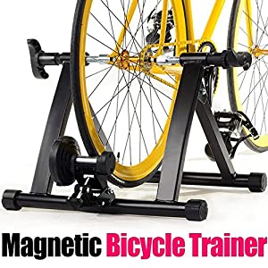 Yaheetech Radical Deal Indoor Magnet Steel Bike Bicycle Exercise Trainer Stand Resistance Stationary Bike Trainer