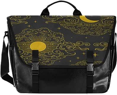 Golden Moon - Bolso de lona para hombre y mujer, diseño retro