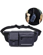 Sling Bag Crossbody Backpack, TEEPAO Mens Waist Bag with Adjustable Shoulder Strap, Headphone Jack, Waterproof Chest Bag for Running Workout Traveling Casuall