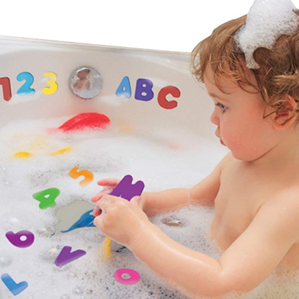 Ogquaton Autocollants alphanuistiques de premi/ère qualit/é 1 jeu jouets pour le bain-marie