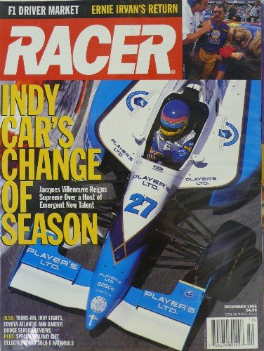 Racing Magazine Indy Car (Racer Magazine - Single Issue - No. 44 - December, 1995)