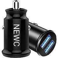 NEW'C Set van 2, Mini-Sigarettenaansteker USB 2-poorten, AiPower-technologie compatibel voor iPhone 8/7/6s/6/Plus/X/XS…
