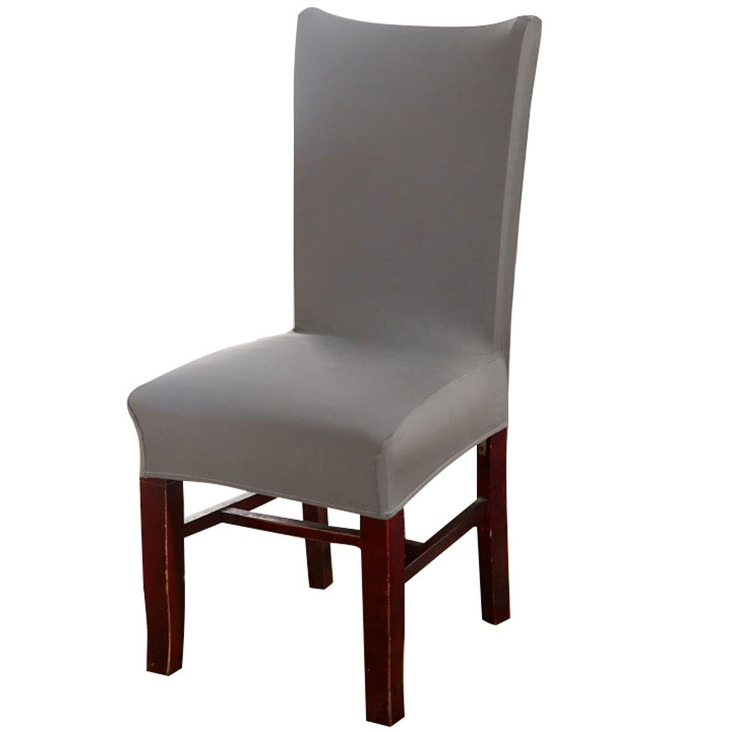 Knit Spandex Fabric Stretch Dining Room Chair Slipcovers