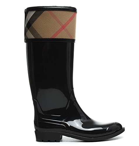 39829441003 Negro es Y Burberry Amazon Zapatos Goma Mujer Botas xwECCqfR